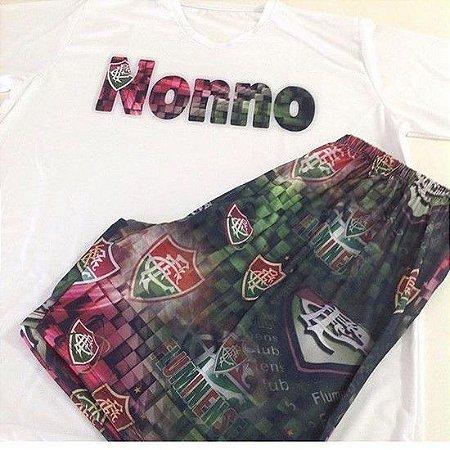 Pijama Longo Personalizado Fluminense Feminino