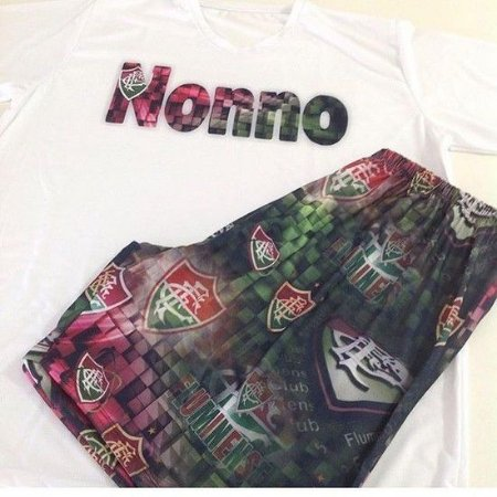 Pijama Longo Personalizado Fluminense Masculino