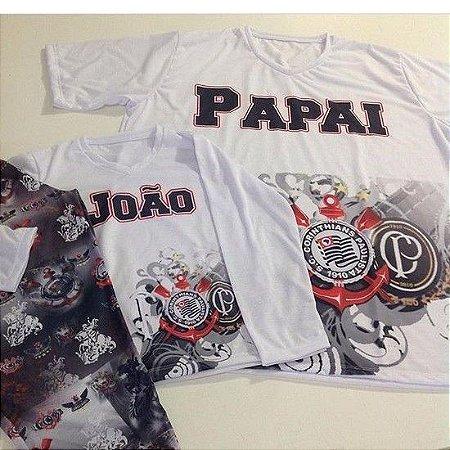 Pijama Curto Personalizado Corinthians Masculino