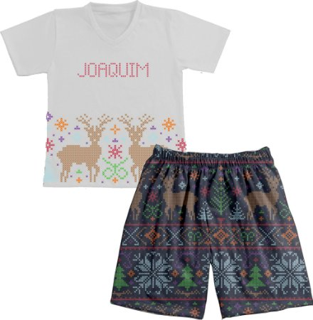 Pijama Natal Personalizado Ponto Cruz