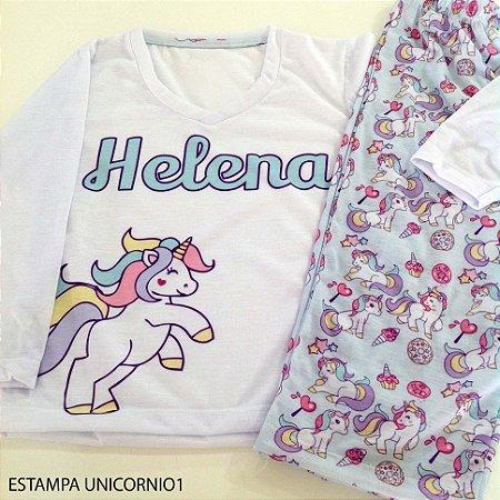 Pijama Personalizado Unicórnio 1