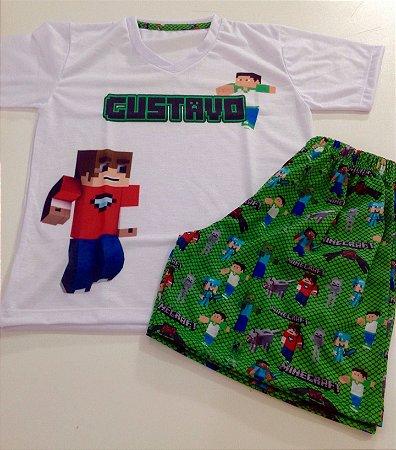 Pijama Personalizado Minecraft