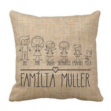 Almofada Personalizada Família
