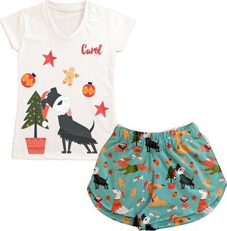 Pijama Personalizado Natal Dog