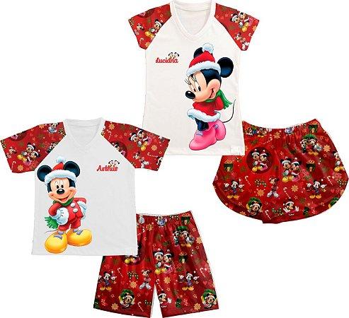 Pijama Natal do Mickey Personalizado