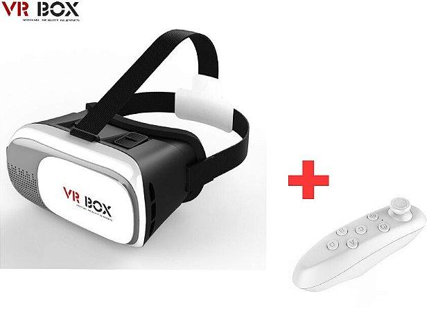 Óculos de  Realidade Virtual Vr Box 2.0  3d  Com Controle