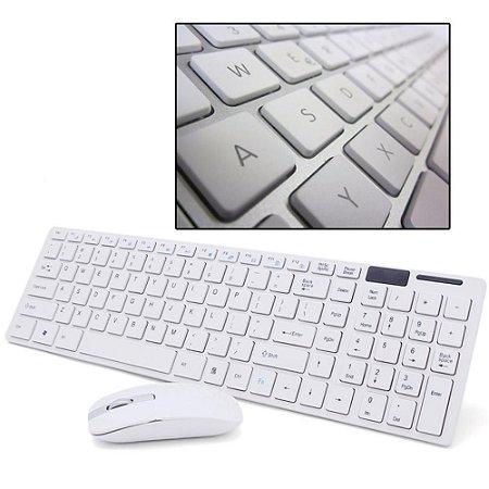 Kit Teclado E Mouse Sem Fio Wifi Usb 1600dpi 2.4ghz
