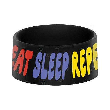 Comedouro Pet - EAT SLEEP REPEAT