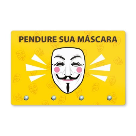 Pendura Máscara 20x13cm - V