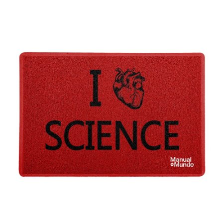 Capacho 60x40cm MANUAL DO MUNDO - I Love Science