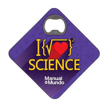 Porta Copos c/ Abridor MANUAL DO MUNDO - Raiz Science (roxo)