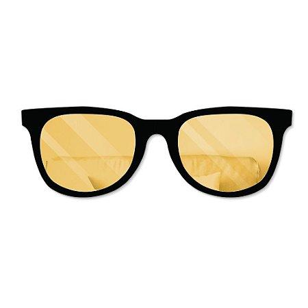 Espelho Decorativo feito em Acrílico Espelhado (85x30cm) - Óculos de Sol - DOURADO
