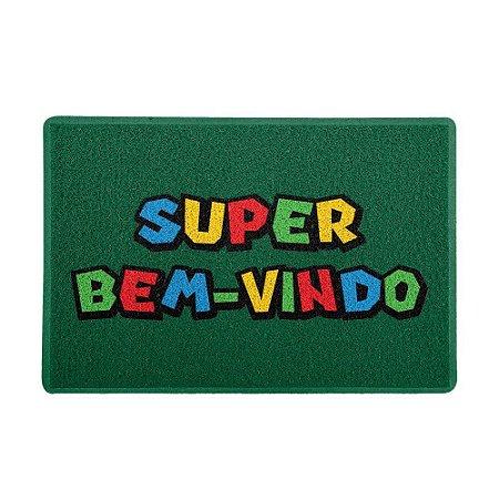 Capacho 60x40cm - SUPER BEM-VINDO (Verde)