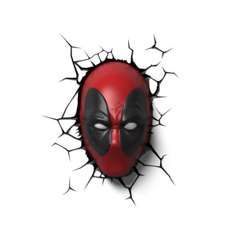 Luminária 3D Light FX Marvel Deadpool