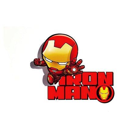 Mini Luminária 3D Light FX Vingadores Homem de Ferro