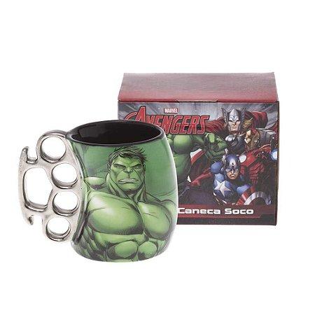 Caneca Soco Inglês Marvel Hulk 350ml