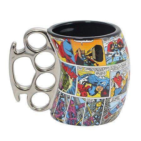 Caneca Soco Inglês Marvel Comics Colors 350ml