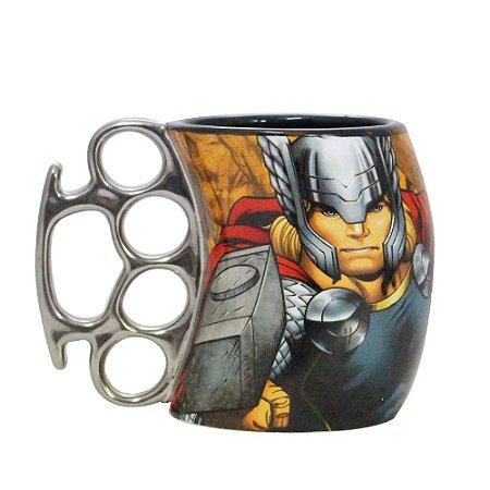 Caneca Soco Inglês Marvel Thor 350ml