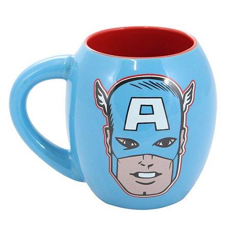 Caneca Oval Marvel Capitão América 530ml