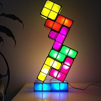 Luminária Mini Tactbit Lights Tetris Usb