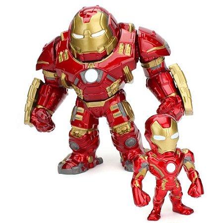 "Boneco Metal DIE CAST MARVEL Hulkbuster 6"" + Iron Man 2,5"""