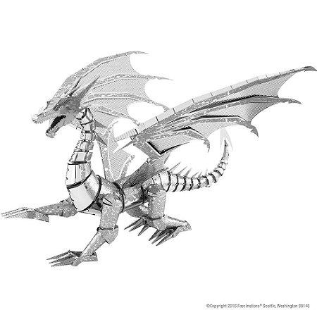 Mini Réplica de Montar ICONX Dragão Prateado