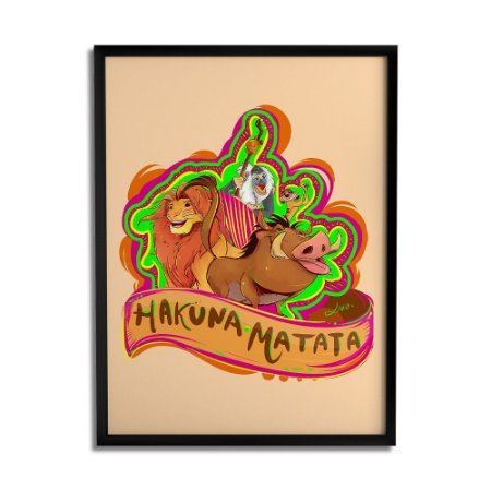 Quadro Decorativo Hakuna Matata By Lua Lins - Beek