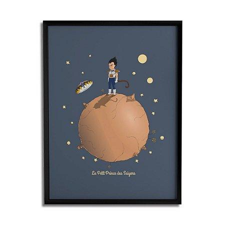 Quadro Decorativo Le Petit Prince des Saiyens By Cleyton Braga - Beek