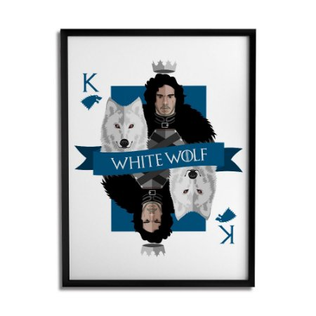 Quadro Decorativo White Wolf By Cleyton Braga - Beek