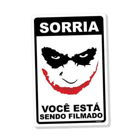 Placa Decorativa 24x16 Sorria - Beek