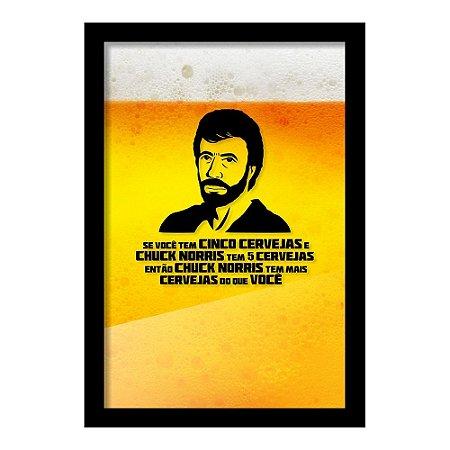 Quadro Porta Tampinha de Cerveja Cinco Cervejas