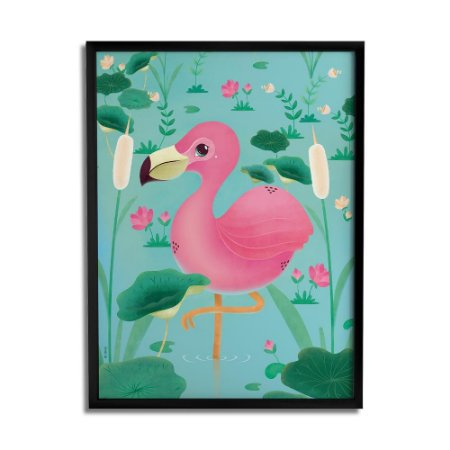 Quadro Decorativo Flamingo By Fe Sponchi - Beek