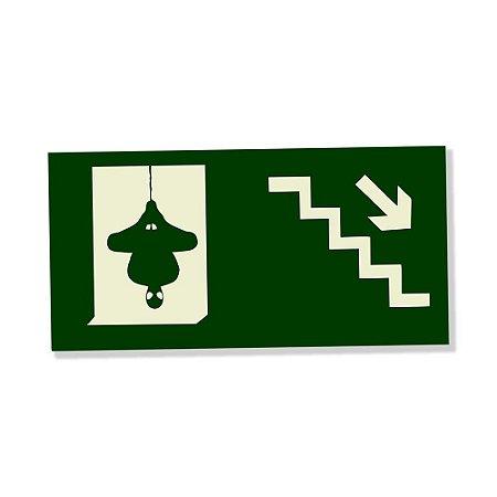 Placa Decorativa 25x14 Escada Descer - Beek