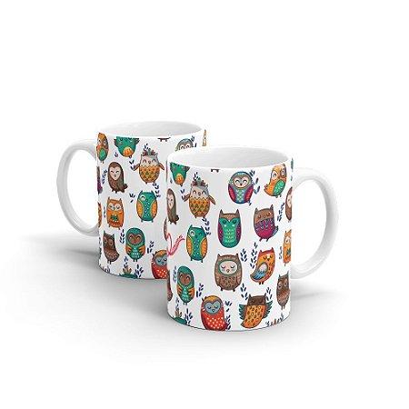 Caneca Personalizada Cerâmica I LOVE CORUJAS - Beek