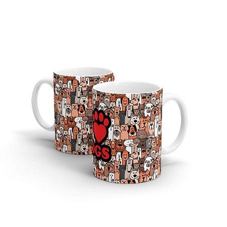 Caneca Personalizada Cerâmica I LOVE DOGS - Beek