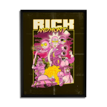 Quadro Decorativo Danger RICK AND MORTY Oficial - Beek