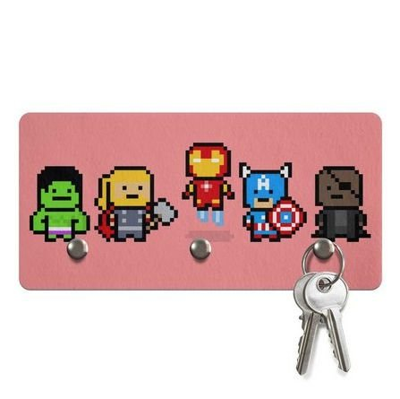 Porta Chaves Ecológico Pixelvengers Vingadores