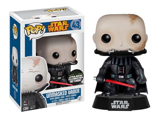 Estatueta Funko Pop! Star Wars - Unmasked Darth Vader