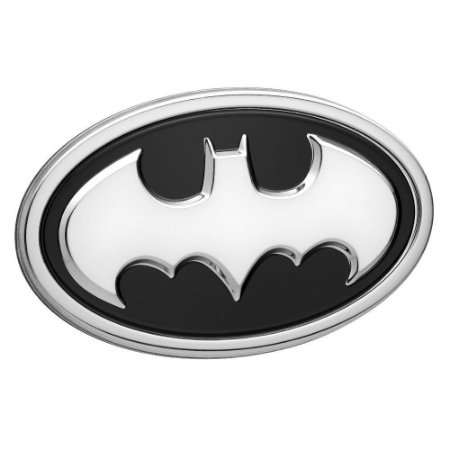 Emblema 3D Automotivo LOGO BATMAN Prata DC Comics - Fan Emblems