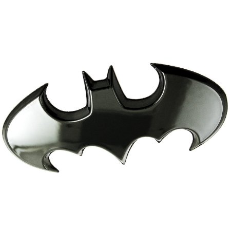 Emblema 3D Automotivo BATWING Preto DC Comics - Fan Emblems