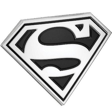 Emblema 3D Automotivo LOGO SUPERMAN Preto DC Comics - Fan Emblems