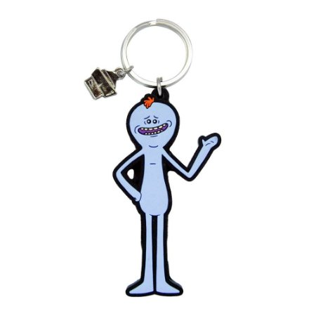 Chaveiro de Borracha Meeseeks RICK AND MORTY Oficial - Beek