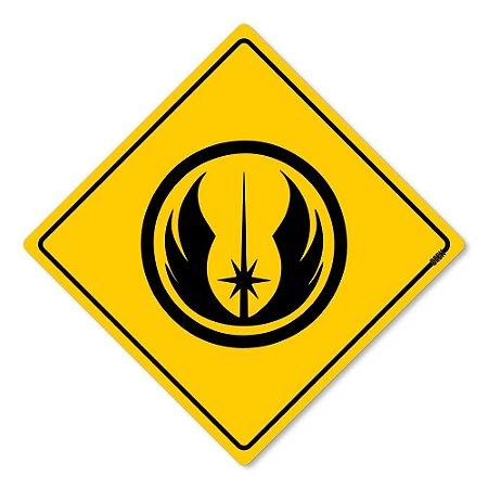 Placa Decorativa 30x30 Sinalização Jedi - Beek