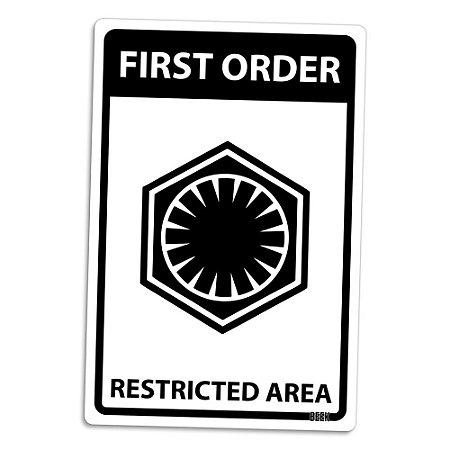 Placa Decorativa 24x16 Area Restrita Primeira Ordem - Beek
