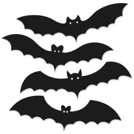 Kit Placas Decorativas 28x9 HALLOWEEN Morcegos - Beek