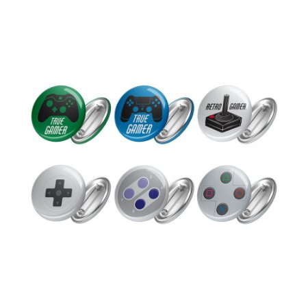 Bottons  Kit de 06 Bottons GAMER