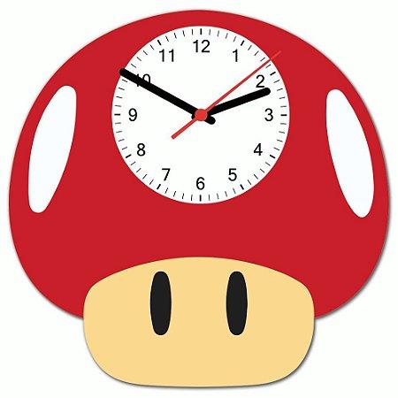 Relógio de Parede Beek COGUMELO VERMELHO