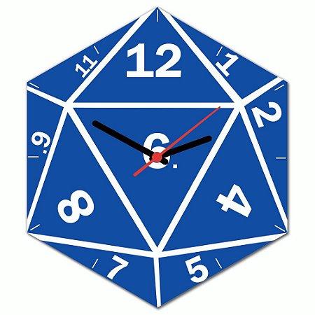 Relógio de Parede Beek DADO DE RPG D20