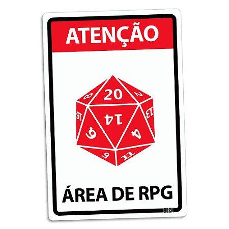 Placa Decorativa 24x16 Área de RPG - Beek