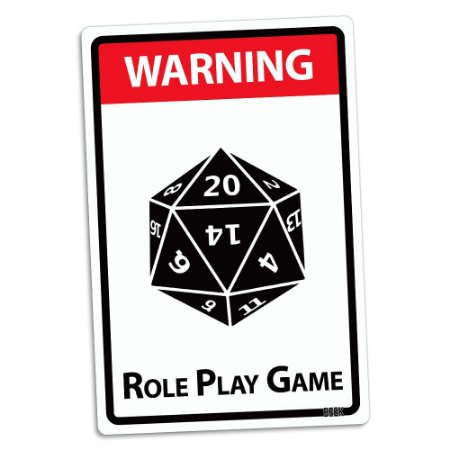 Placa Decorativa 24x16 Role Play Game - Beek
